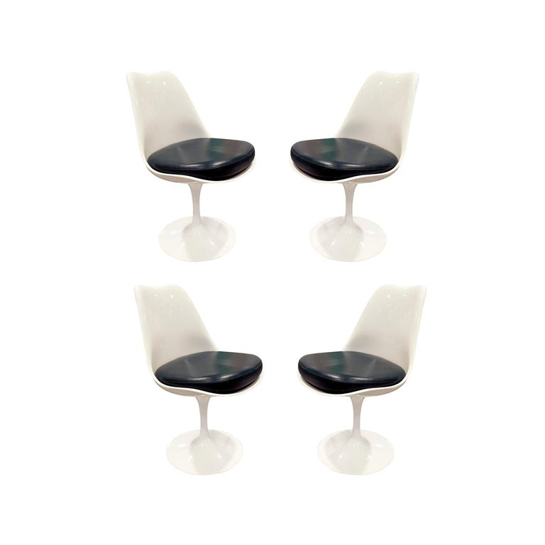 Eero Saarinen Set of 4 Swiveling Tulip Chairs, 1960s Signed