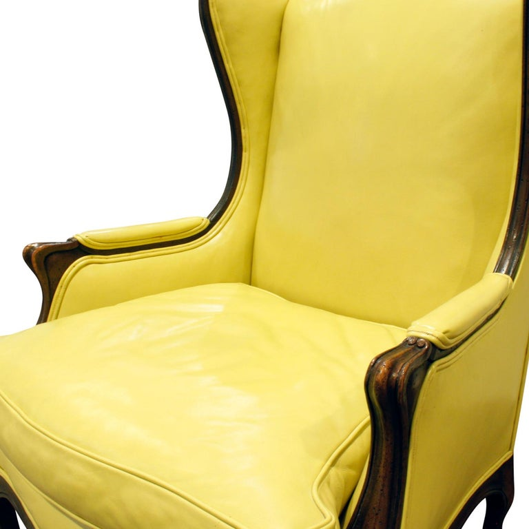 Mid-20th Century Custom-Made Regency Style Wing Chair, 1950s, Signed For Sale