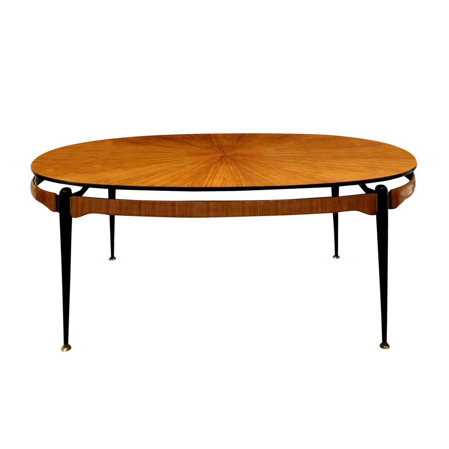 Beautiful Radiating Rosewood Dining Table, attributed to Ico Parisi, circa 1954