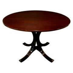 Osvaldo Borsani Elegant Table in Mahogany with Bentwood Base, circa 1960