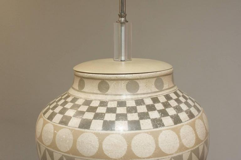 Modern Exceptional Large Ceramic Table Lamp, 1970s For Sale