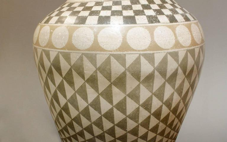 Italian Exceptional Large Ceramic Table Lamp, 1970s For Sale