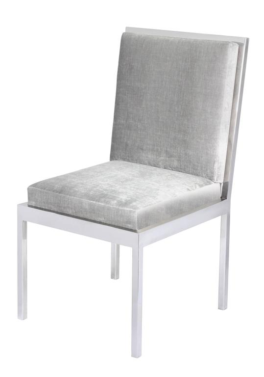 Set of Six Dining Chairs in Polished Chrome by Milo Baughman 2
