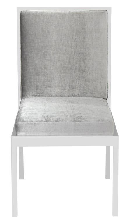 Set of Six Dining Chairs in Polished Chrome by Milo Baughman In Excellent Condition For Sale In New York, NY