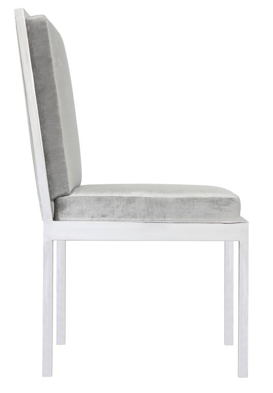 Mid-Century Modern Set of Six Dining Chairs in Polished Chrome by Milo Baughman For Sale