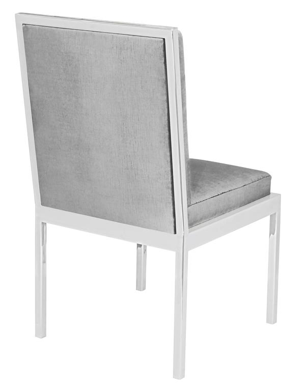 Set of Six Dining Chairs in Polished Chrome by Milo Baughman 4