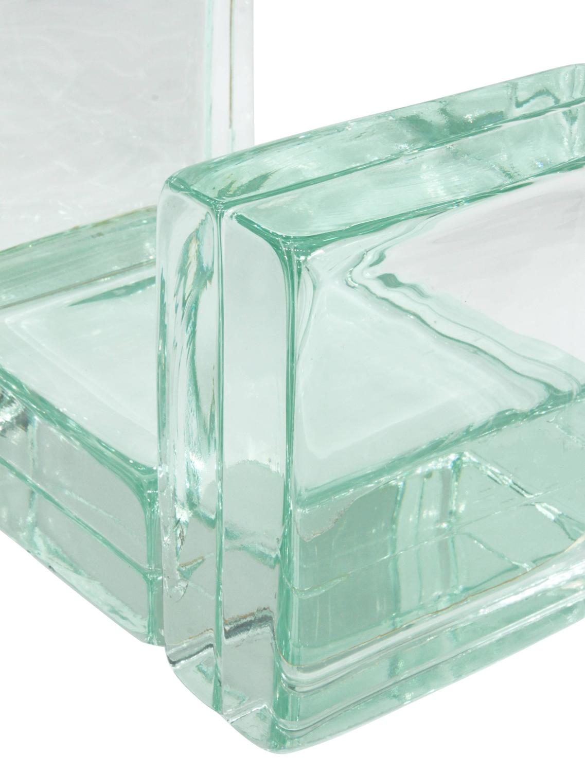 Chic Sculptural Glass Block Occasional Table By Imperial Imagineering At 1stdibs
