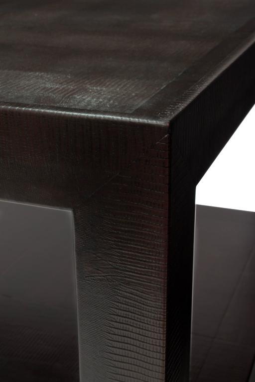 Mid-Century Modern Karl Springer Triangular Leg Coffee Table 1989 For Sale