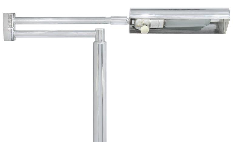 Hand-Crafted Swing Arm Reading Lamp by Koch & Lowy For Sale