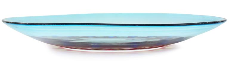 Italian Exceptional Handblown Glass Charger by Anzolo Fuga for A.V.E.M For Sale
