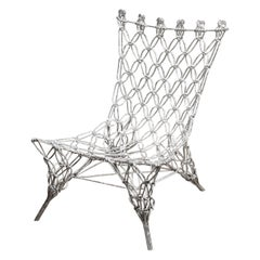 Marcel Wanders Knotted Rope Chair in Chrome Epoxy, 1996