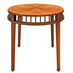 Shelton-Mindel Round Mahogany Side Table, 1990s
