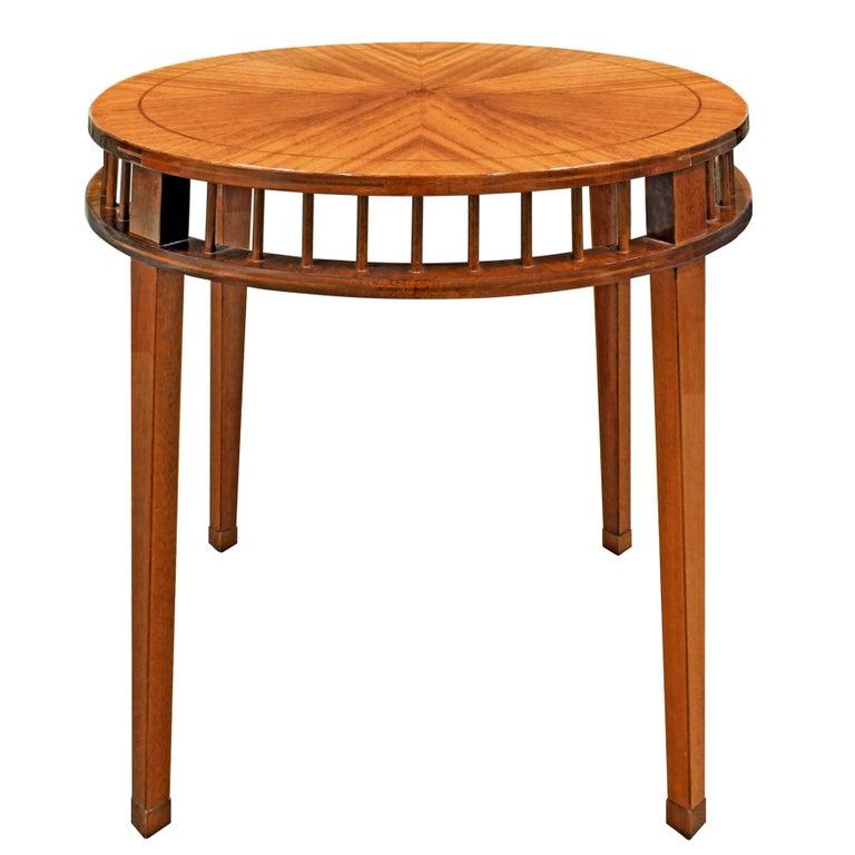 Shelton-Mindel Round Mahogany Side Table, 1990s
