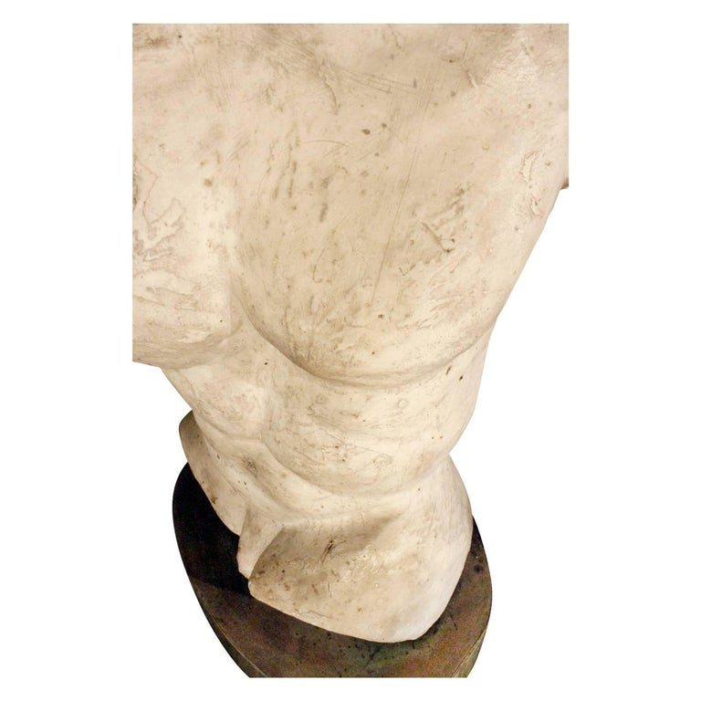 Philip & Kelvin Laverne One of a Kind Torso Table Lamps, circa 1970 In Excellent Condition For Sale In New York, NY