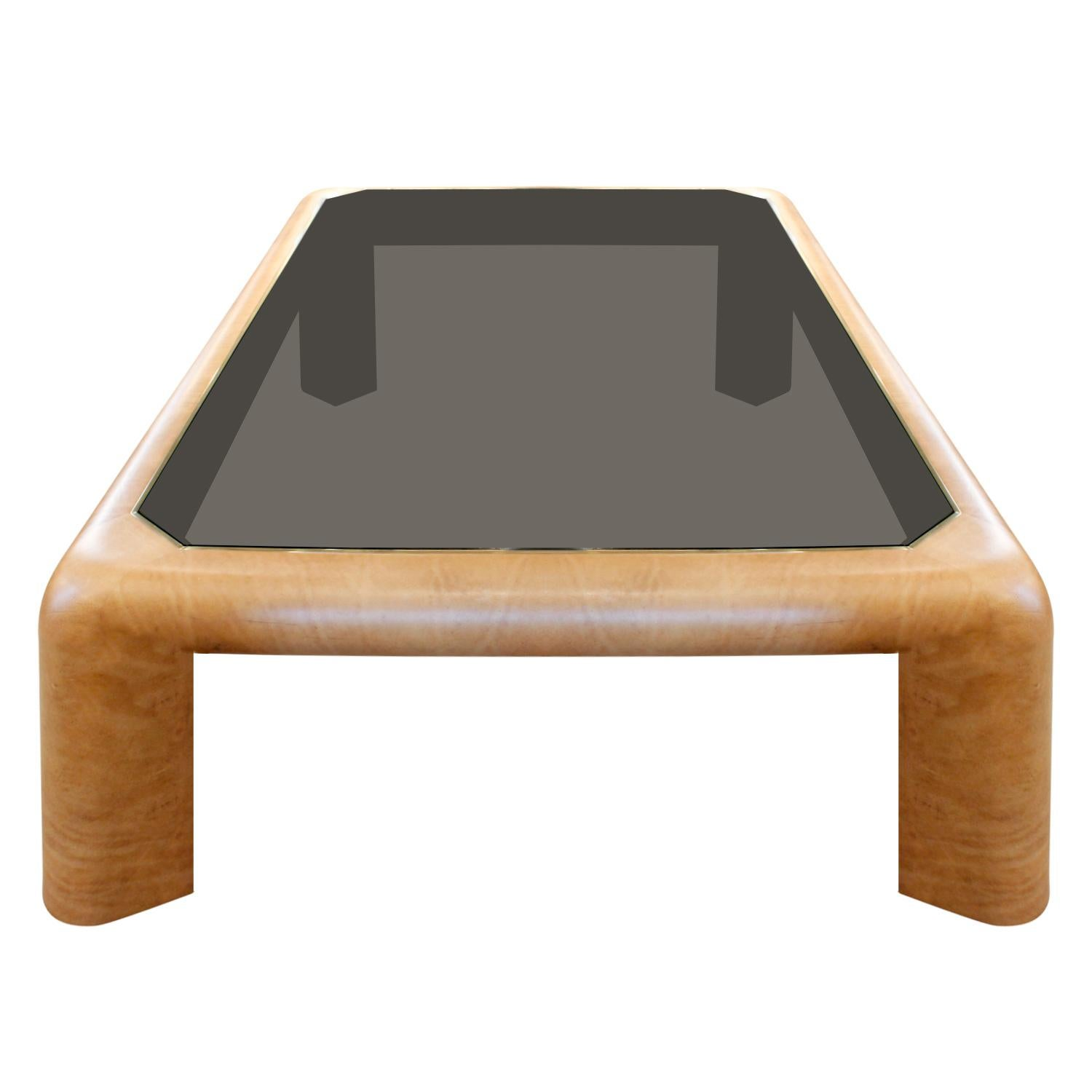 Karl Springer Large Mark Ii Coffee Table In Leather 1983 For At 1stdibs