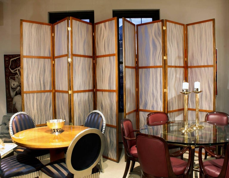 Other Pair of Tall Screens with Inset Horse Hair Panels, 1960s For Sale