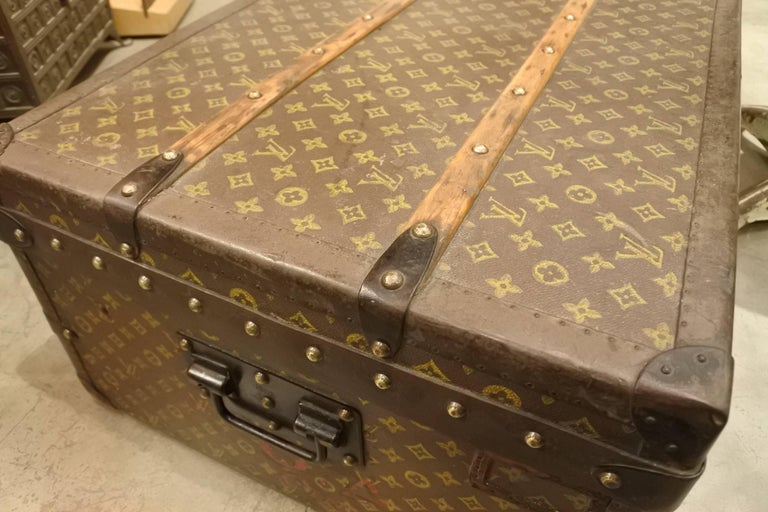 Vintage Louis Vuitton Steamer Trunk 6