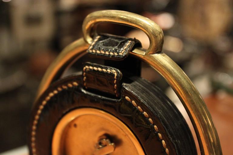 Hermes Dupre Lafon Crocodile Clock For Sale 1
