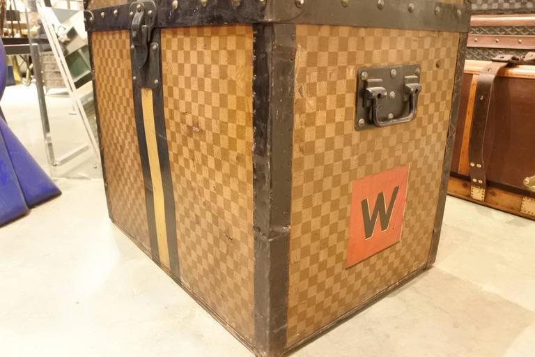 Mid-Century Modern Louis Vuitton Damier Cube Trunk For Sale