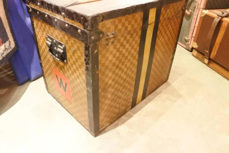 French Louis Vuitton Damier Cube Trunk For Sale