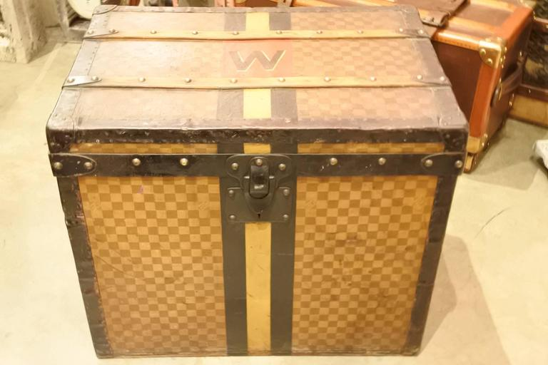 20th Century Louis Vuitton Damier Cube Trunk For Sale