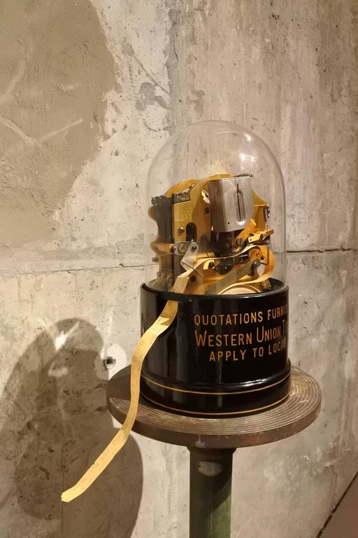Original Edison Stock Ticker In Excellent Condition For Sale In New York, NY