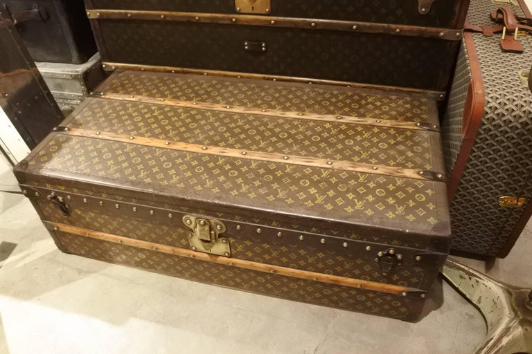 Vintage Louis Vuitton Steamer Trunk 10
