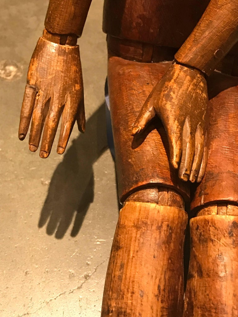 Carved 19th Century Artist's Mannequin For Sale