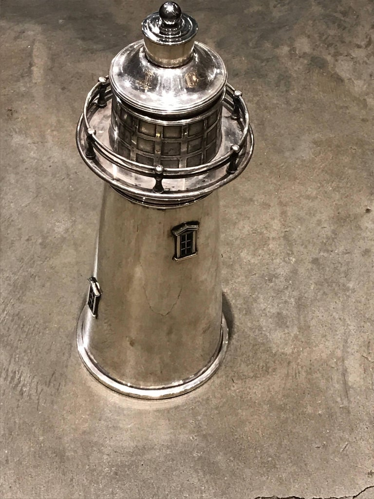 Lighthouse Cocktail Shaker by Meriden International Silver Co 8