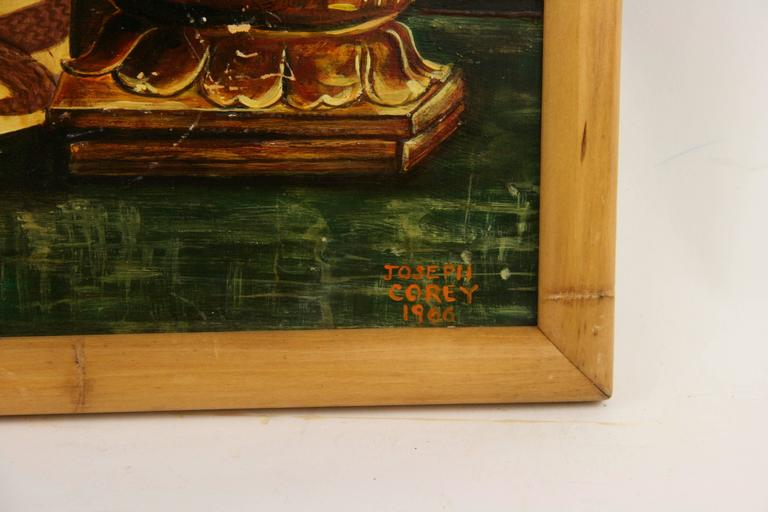 Oil Painting-Oniental Still Life In Excellent Condition For Sale In Douglas Manor, NY