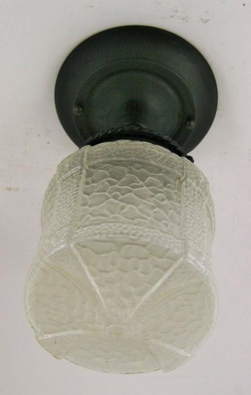 Arts and craft semi flush mount for sale at 1stdibs for Arts and crafts flush mount lighting