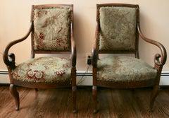 Pair of Italian Fruitwood Chairs
