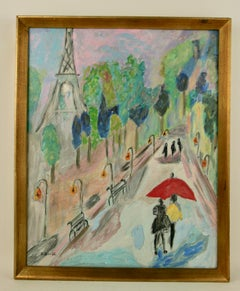 Paris Street Scene Painting