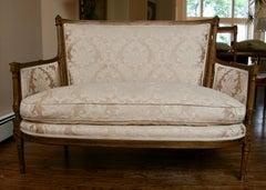 French Gilt Wood Sofa Settee