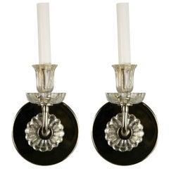 Pair of Tulip Glass Midcentury Sconces