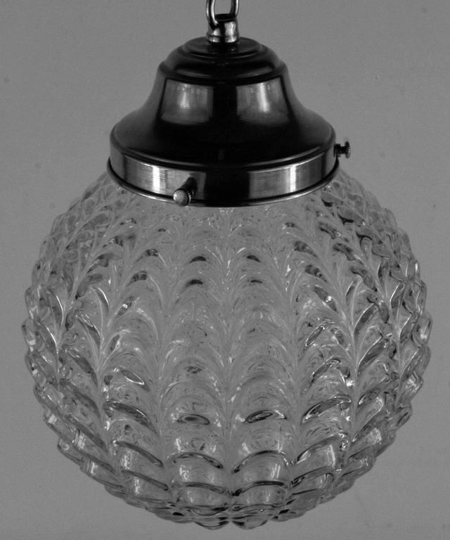 Mid Century Glass Pendant 2
