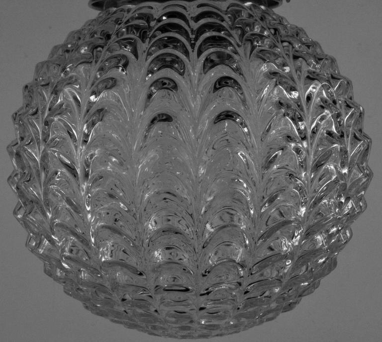Mid Century Glass Pendant 3