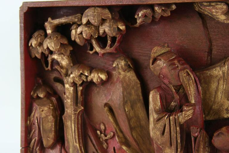 Antique chinese carved relief for sale at stdibs