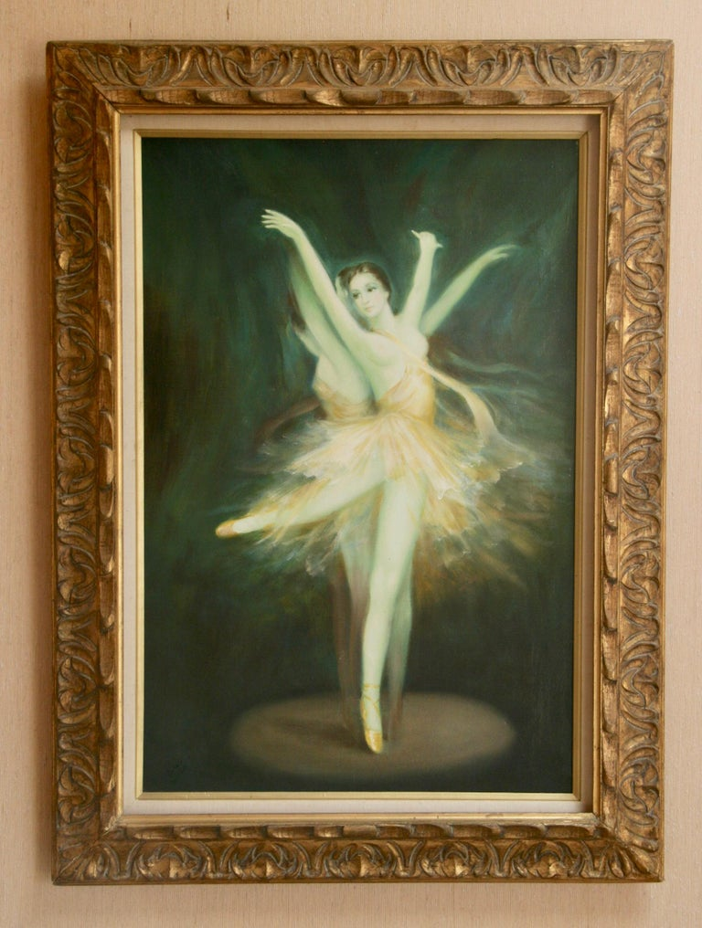Wood Ballerina Original Oil Painting For Sale