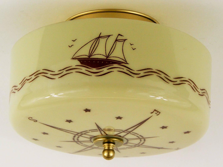 nautical compass ceiling light at 1stdibs. Black Bedroom Furniture Sets. Home Design Ideas