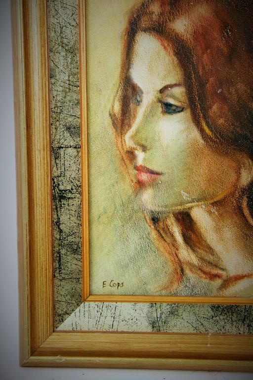 Portrait Painting - Elena In Good Condition For Sale In Douglas Manor, NY