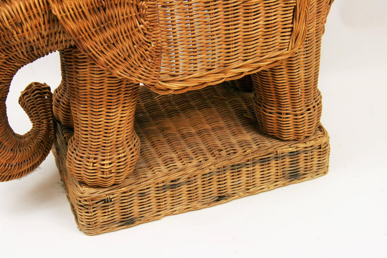 Wicker Elephant Table For Sale At 1stdibs