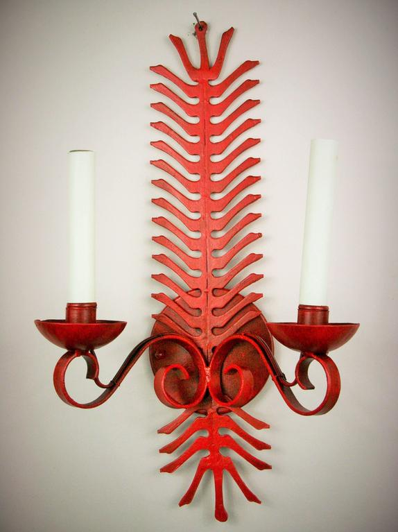 Red Fern Single Sconce For Sale 1
