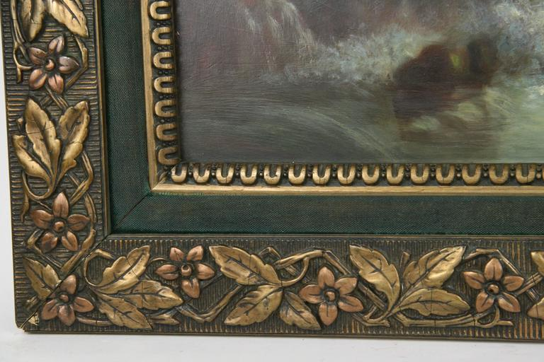 Early 20th Century Seascape Oil Painting, circa 1920s For Sale