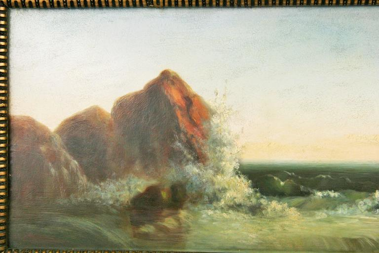 Seascape Oil Painting, circa 1920s For Sale 1