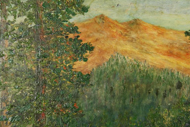 Impressionist Landscape Painting by F. Koops In Good Condition For Sale In Douglas Manor, NY
