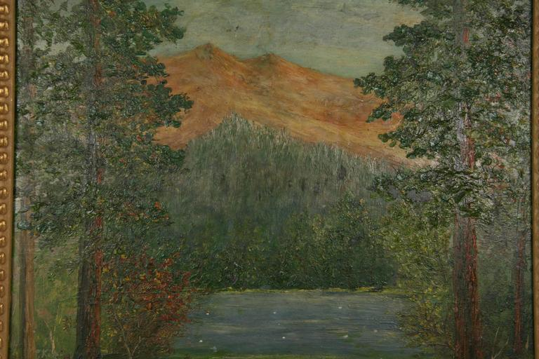 Impressionist Landscape Painting by F. Koops For Sale 2