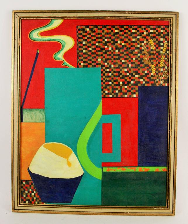 Late 20th Century Abstract Red Painting For Sale