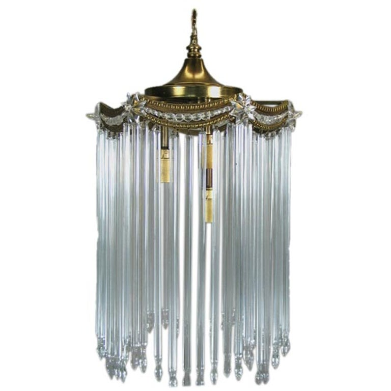 Austian Crystal Rods Pendant For Sale