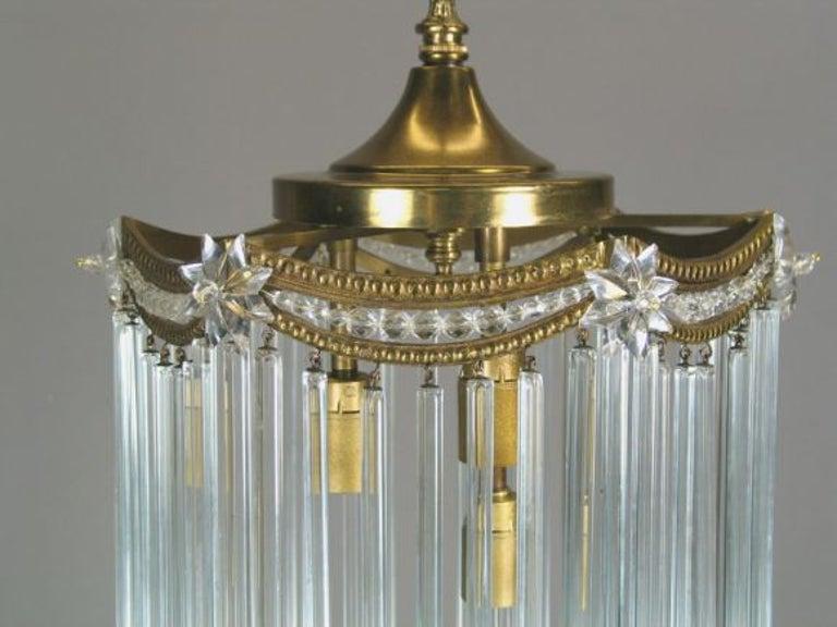Austrian Austian Crystal Rods Pendant For Sale